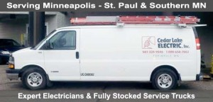 Minneapolis Electrician - Fully Stocked Service Trucks
