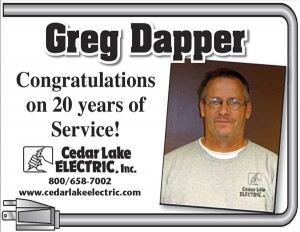 Greg Dapper - 20 Years of Service