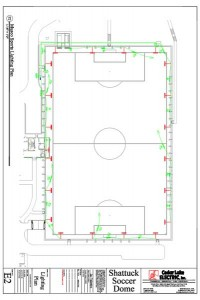 AutoCAD - Soccer Dome